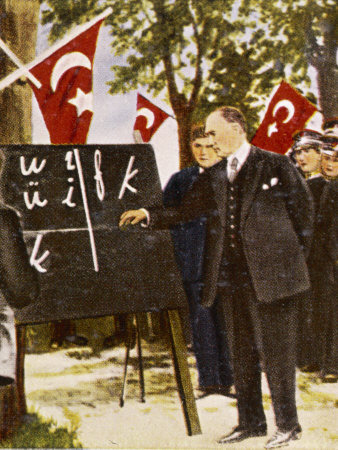 Kemel-ataturk-introduces-language-reform